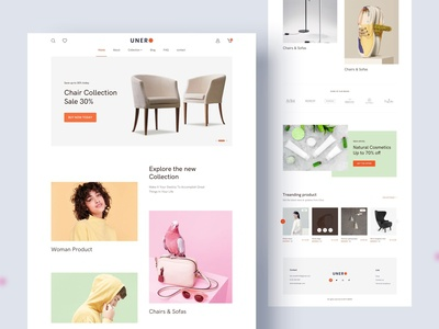 UNERO eCommerce website design