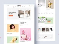 UNERO eCommerce website design fashion product page shopify trendy landing page minimal clean product shop ecommerce