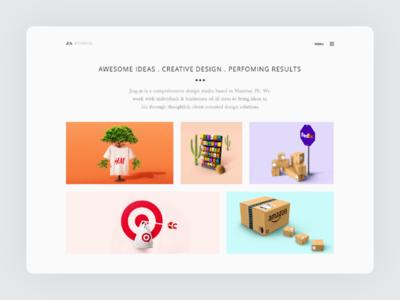 Minimal Project Portfolio UI/UX typography color website portfolio project flat web ux ui uiux minimal whitespace