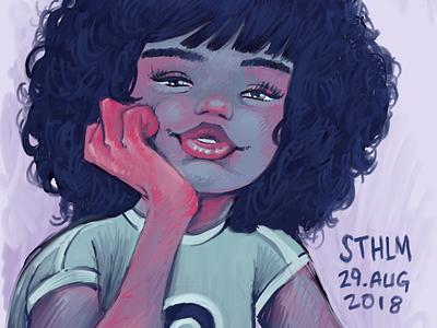 Digital speed painting/sketch digital sketch
