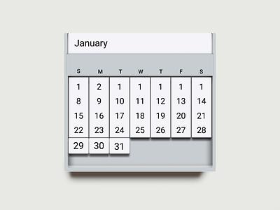 Tablet Calendar - blatant vectorized reality skeuomorphism calendar ui future of ui calendar skeuomorphic