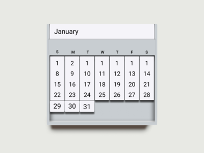 Tablet Calendar - blatant vectorized reality