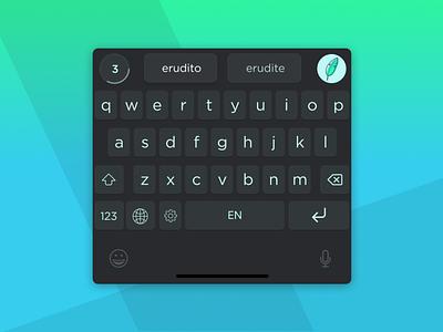 Erudito Keyboard design write text ios keyboard keyboard gamified erudito