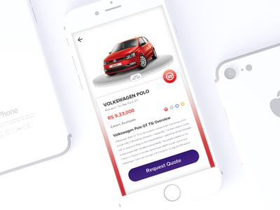 Automobile App UI