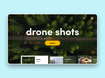 Drone Shots photograph adventure drone latvia experience design design adobe xd travel concept after effect interaction design app design mobile animation ux ui app web design