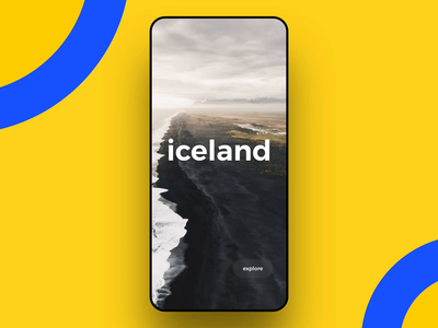 Iceland Travel app - Interaction design
