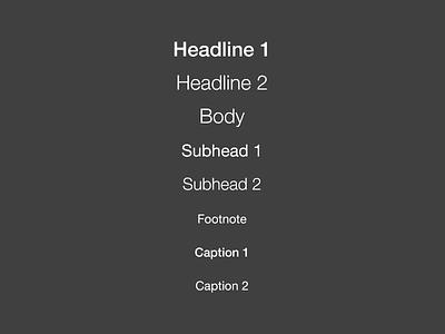Dynamic Type on iOS 7 psd resource ios 7 type typography dynamic dynamic type