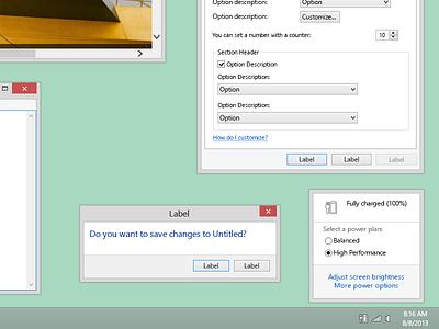 Windows 8.1 Desktop [PSD] windows windows 8 windows 8.1 vector psd microsoft metro desktop