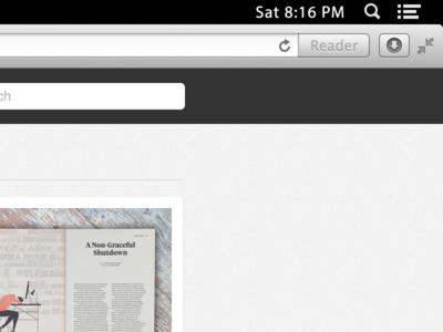 OS X Menu Bar for Power Users os x full screen fullscreen menu bar