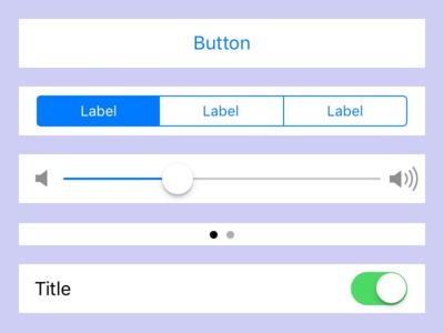 iOS 11 GUI for Framer