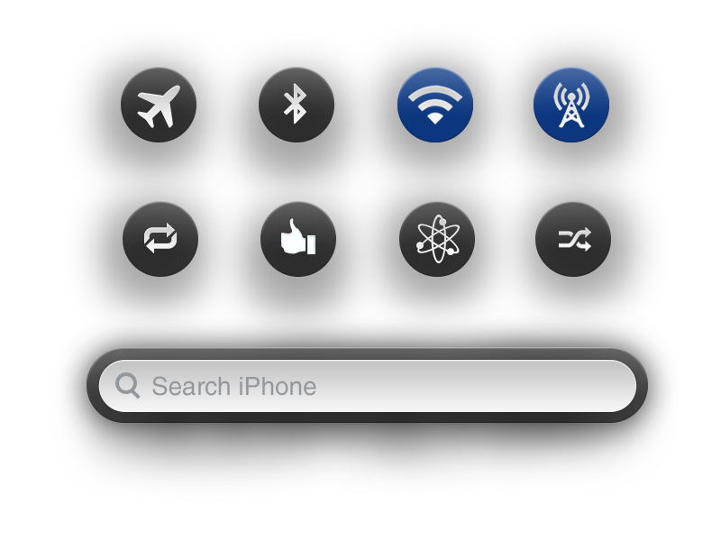 Circle Buttons circle button ios app switcher iphone apple