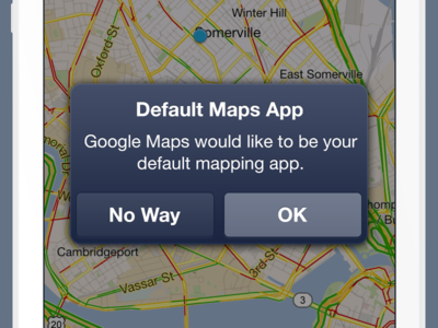 Mapping App Attack ios apple iphone alert notification google maps default app