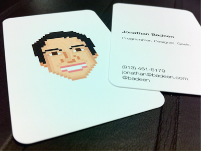 Pixel Business Card pixelated 8-bit business card