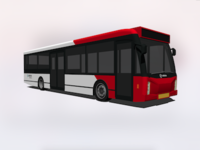Transit bus in color
