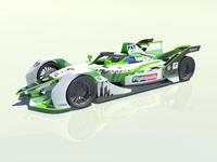 Gen2 Formula E Car in Skoda Motorsport livery