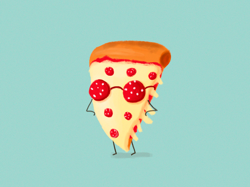 Cool Pizza By Cose Illustrate Dribbble Dribbble