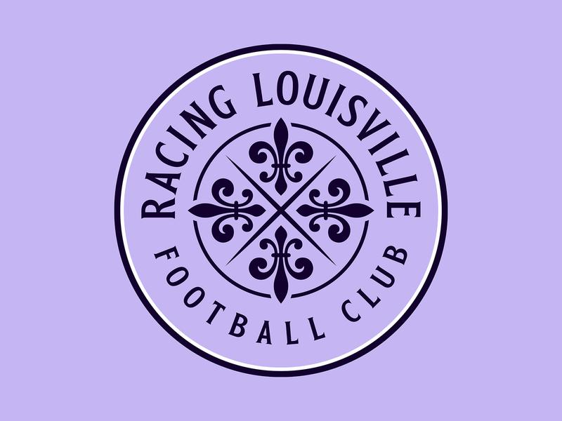 Racing Louisville FC football nwsl lavender kentucky louisville logo badge