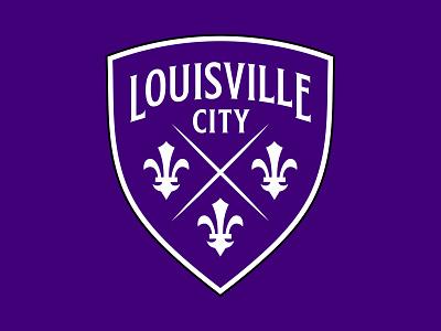 Louisville City FC fleur-de-lis city badge logo kentucky soccer crest