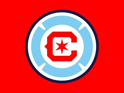 Chicago Fire FC flag florian cross mls club fire chicago badge crest football logo soccer