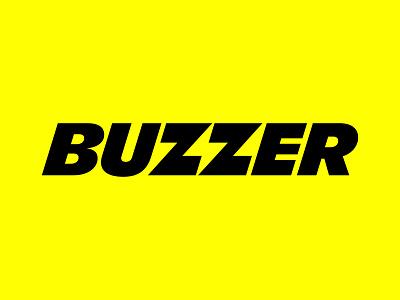 Buzzer branding bolt lightning negative space buzzer sports app logo