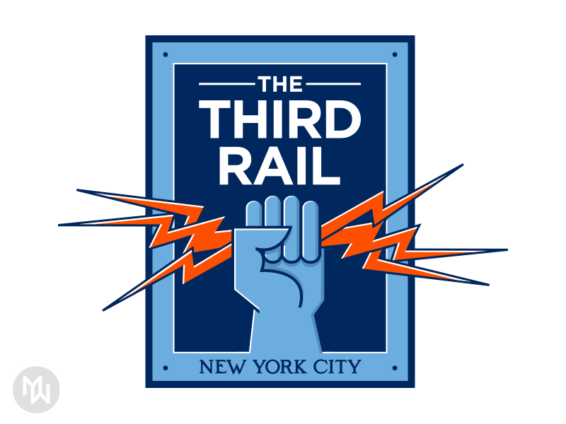The Third Rail nycfc new york city fc the third rail logo supporters group club fans soccer art deco new york city