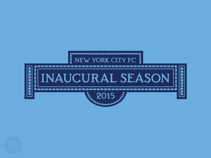 New York City FC - 2015 Inaugural Season Logo jersey patch inaugural season soccer mls new york city fc new york city nyc nycfc