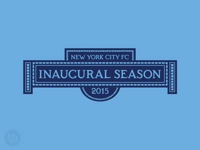 New York City FC - 2015 Inaugural Season Logo jersey patch inaugural season soccer mls new york city fc new york city nyc nycfc