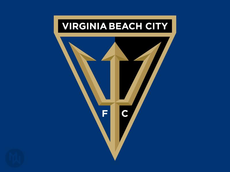 Virginia Beach City FC va badge crest logo npsl football club futbol soccer vb virginia beach