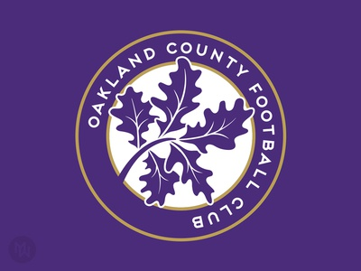 Oakland County FC logo soccer oak leaves purple ocfc michigan club football oakland county