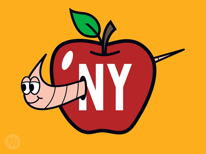 NIKE NEW YORK apple new york soho swoosh t-shirt worm big apple nyc nike