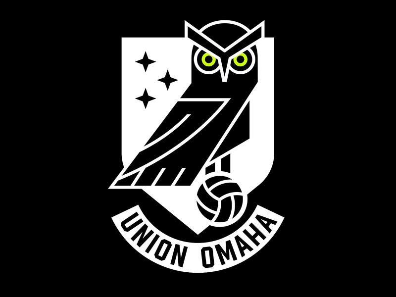 Union Omaha Soccer Club branding sports football usl owl union logo badge crest club soccer