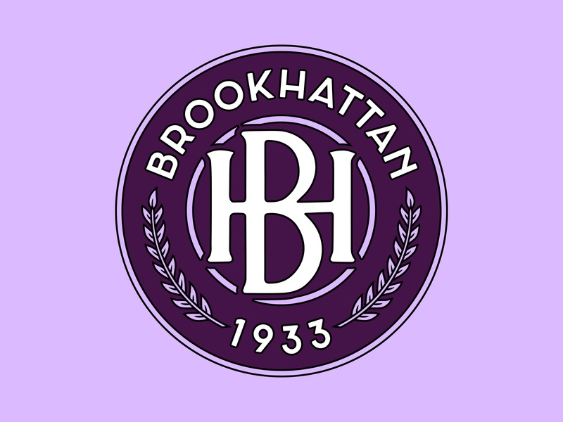 Brookhattan FC 1933 purple logo manhattan brooklyn nyc badge football crest soccer