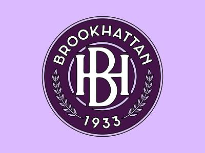 Brookhattan FC 1933 purple logo manhattan brooklyn nyc badge football crest soccer