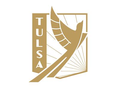 FC Tulsa art deco deco fc roughnecks oklahoma ok logo badge crest soccer club football tulsa