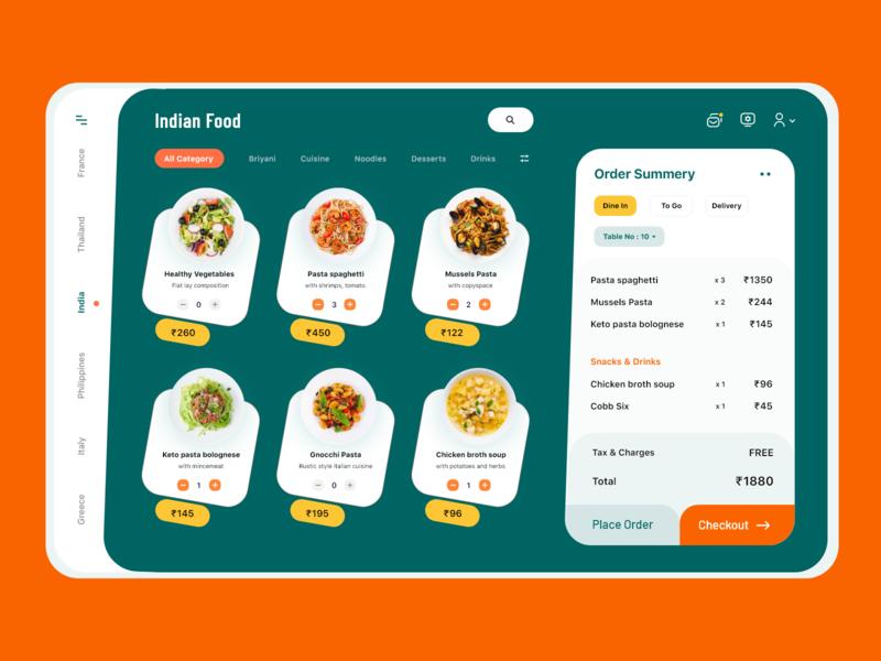 Restaurant POS System Dashboard