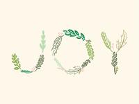 Leaf Lettering Joy