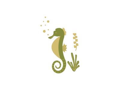 Seahorse Icon icon baby apparel kids seaweed kelp green erika firm nautical sea horse seahorse