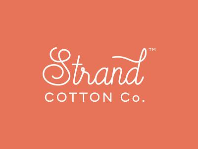 Strand Cotton Company Logo rust terracotta trendy script blankets baby kids erika firm retail textile strand cotton