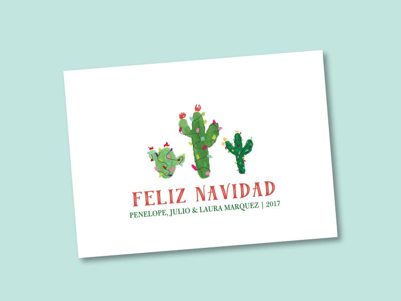 Feliz Navidad Cactus Holiday Card By Erika Firm Dribbble Dribbble