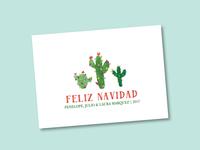 Feliz Navidad Cactus Holiday Card