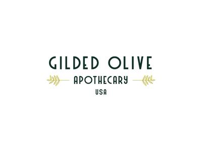 Gilded Olive Apothecary Logo bath bath and body soap nostalgic vintage 1920s art nouveau art deco green olive erika firm logo