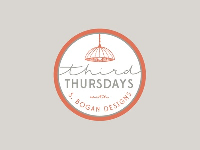Third Thursdays persimmon orange south carolina kiawah erika firm lighting lamp event thursdays third interior design