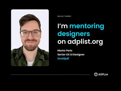 Design Mentor at ADPList.org portfolio review design session session portfolio review design design review design mentoring design mentor mentoring mentor