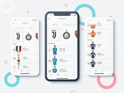 Serie A UI user interface ui design statistics score live application app soccer football serie a