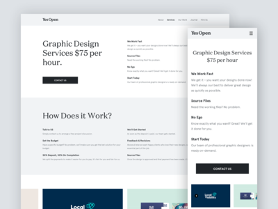 Yes Open - Website Redesign and Reorganization design system portfolio services start up company mobile responsive responsive design style guide user interface design redesign about page