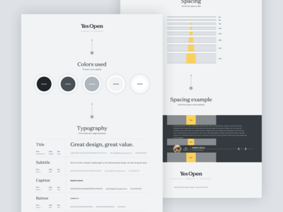 Yes Open - Styleguide wordpress design wordpress web design webdesign spacing typography organization system design design systems design system guides style guides style guide