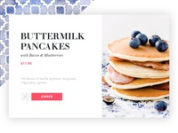 Order Food UI texture eating food recipe bacon blueberries ui delivery order meal pancakes daily ui