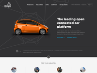 Connected Car Home Page Design
