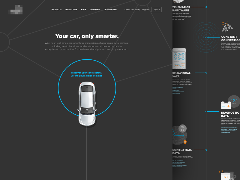 Connected Car Platform Page by Rachel Holland for gotomedia