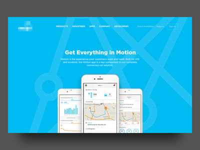Connected Car App Page Design